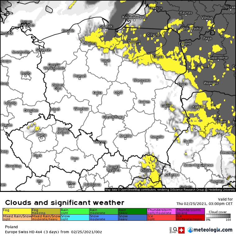 Pogoda. Chmury i mgły Polska