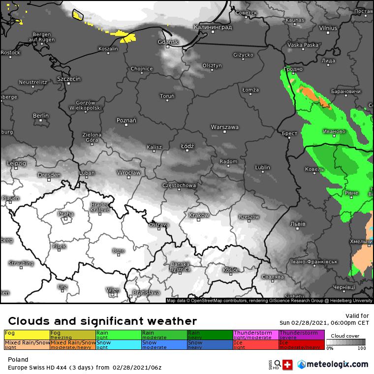Pogoda. Mgły i deszcz w Polsce