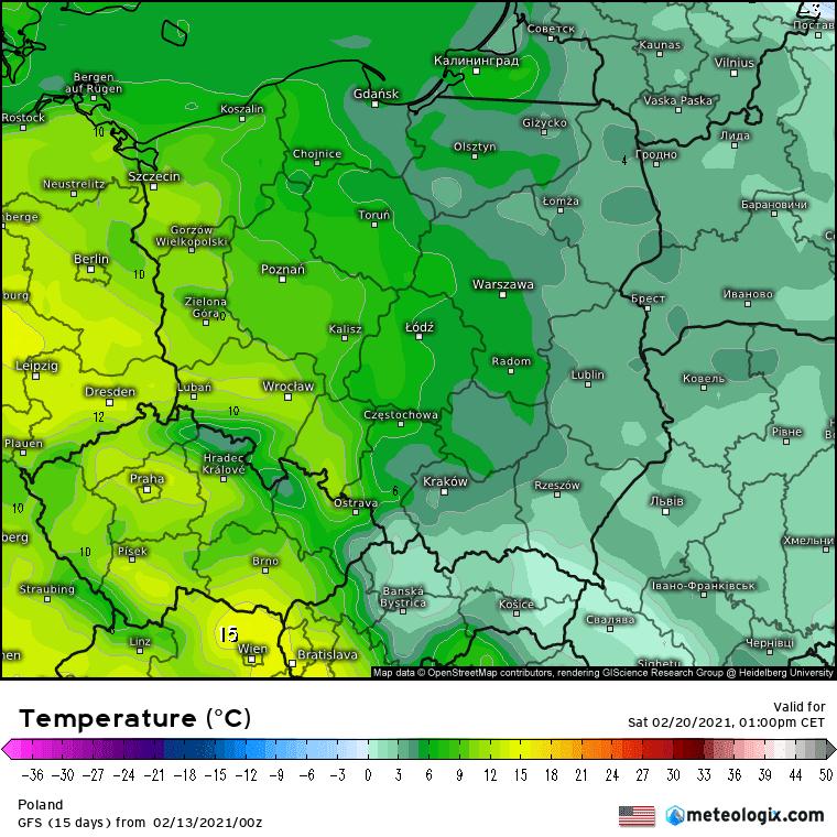 Odwilż w Polsce, aż 10 stopni 20 lutego 2021