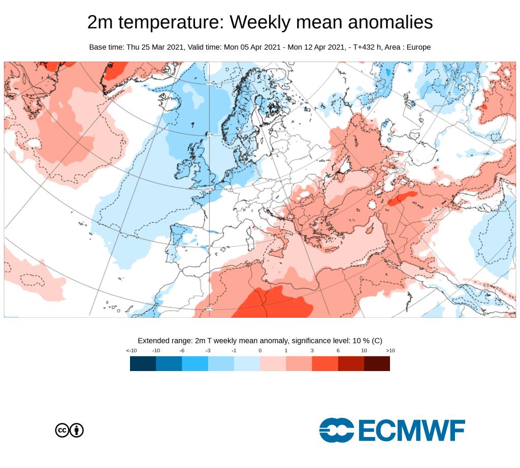 Pogoda. Anomalia na przelom 1 i 2 dekady kwietnia