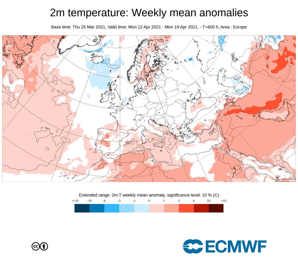 Pogoda. Anomalia na przelomie 2 i 3 dekady kwietnia