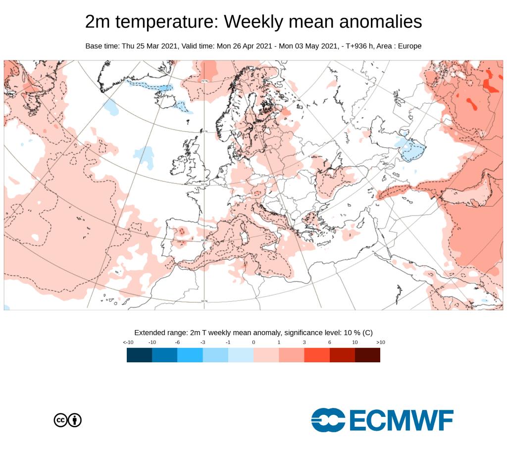Pogoda. Anomalia ECMWF