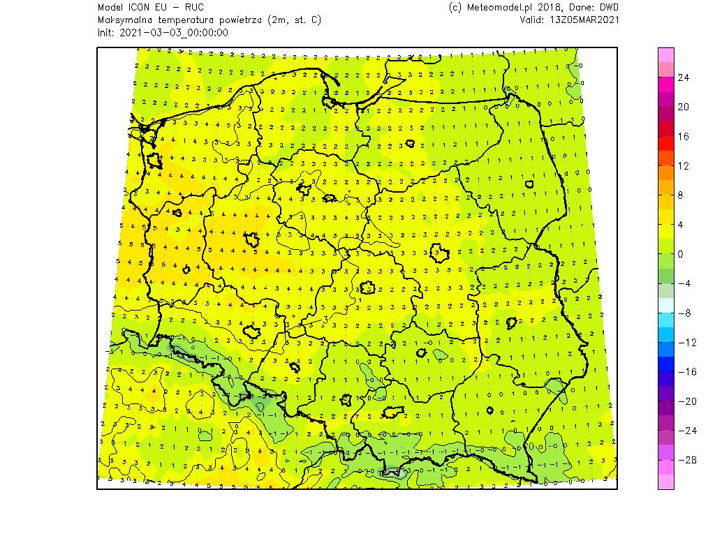 Pogoda. Temperatura w sobotę.