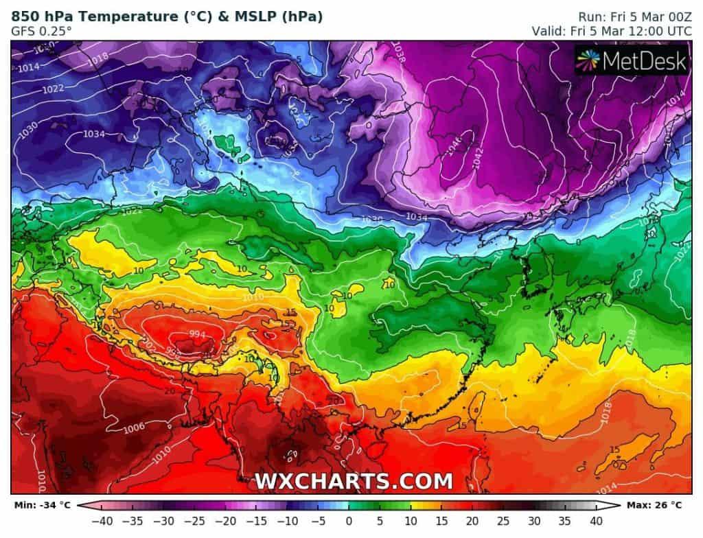 Atak zimy w Europie i Azji