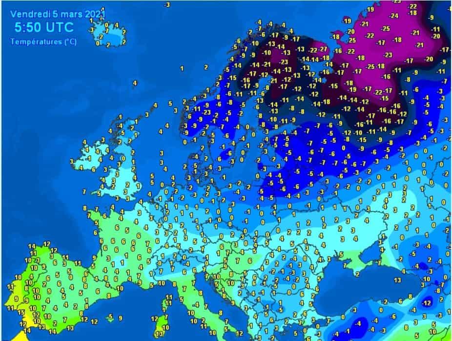 Silny mróz i atak zimy