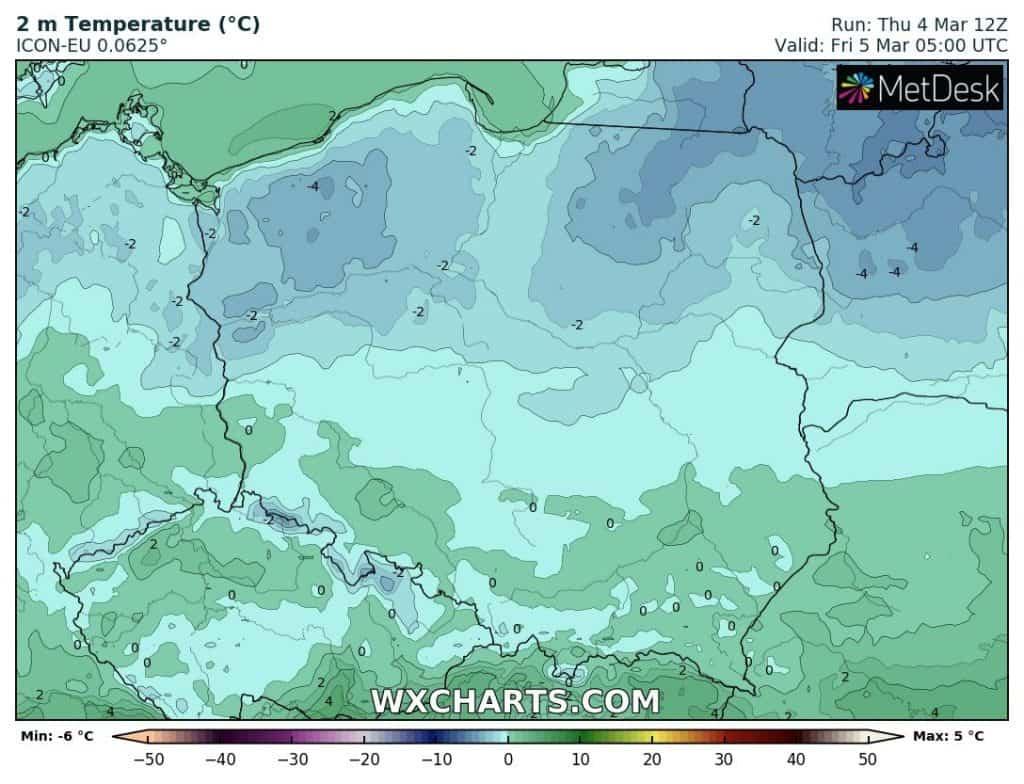 Mróz w nocy w Polsce. Atak zimy w marcu