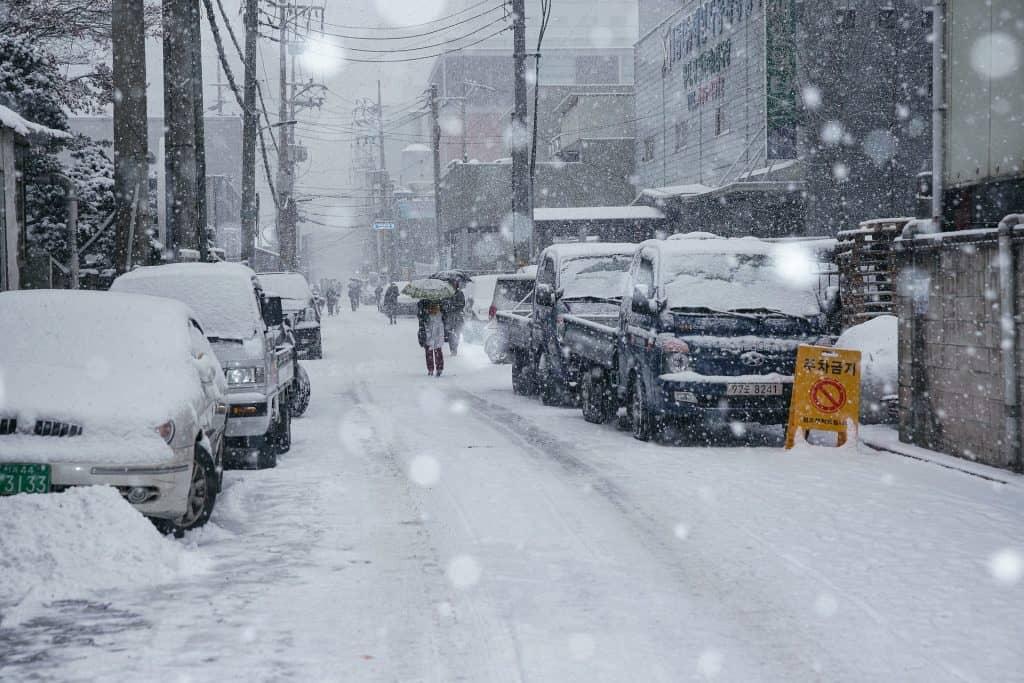 Atak zimy i śnieżyce w marcu Japonia