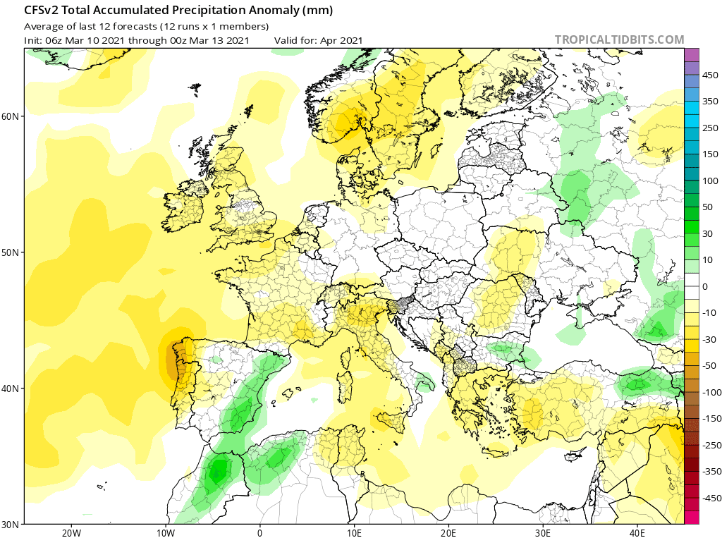 Pogoda. Opady w normie kwiecień 2021