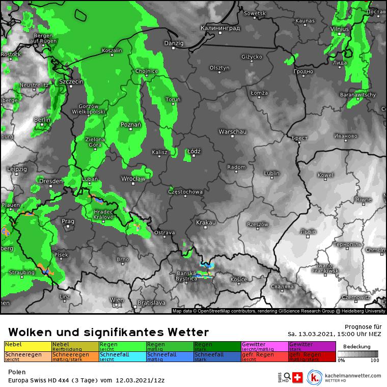 Deszcz Polska 13 marca