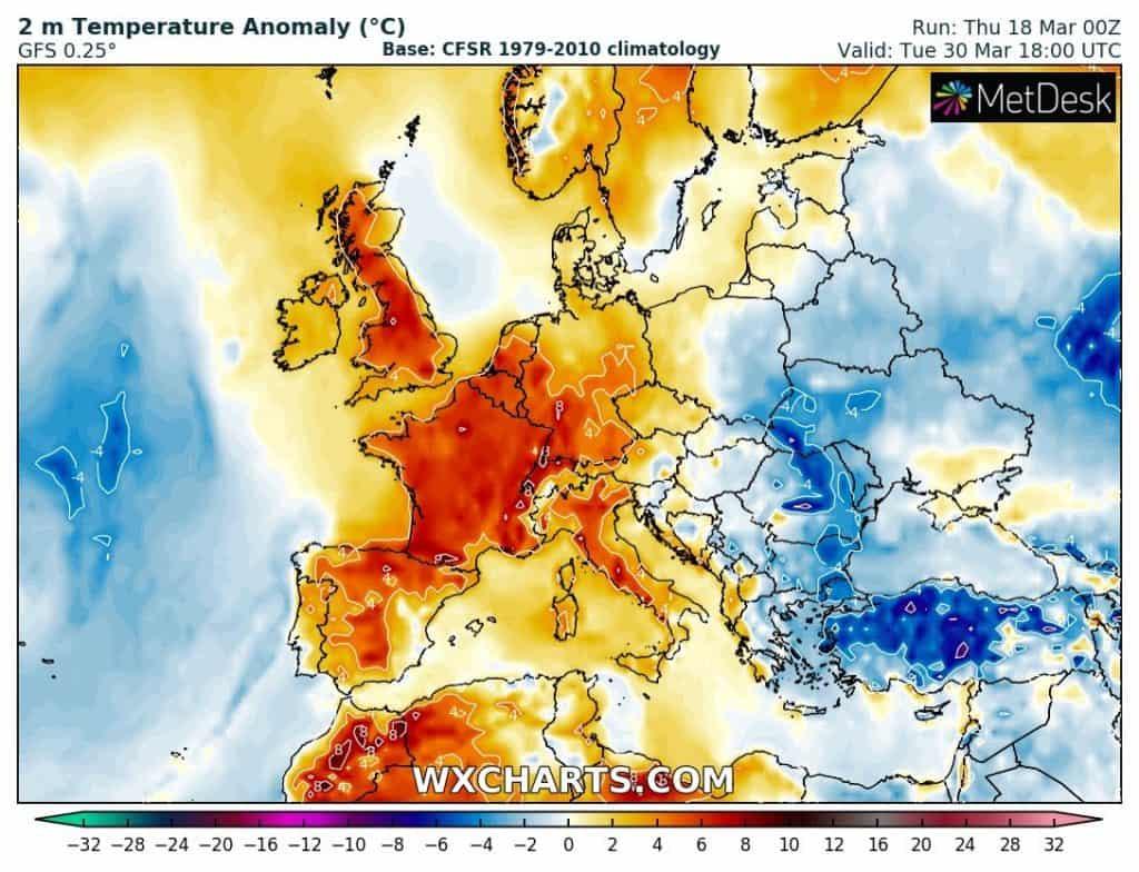 Fala ciepła w Europie. Pojawią się burze