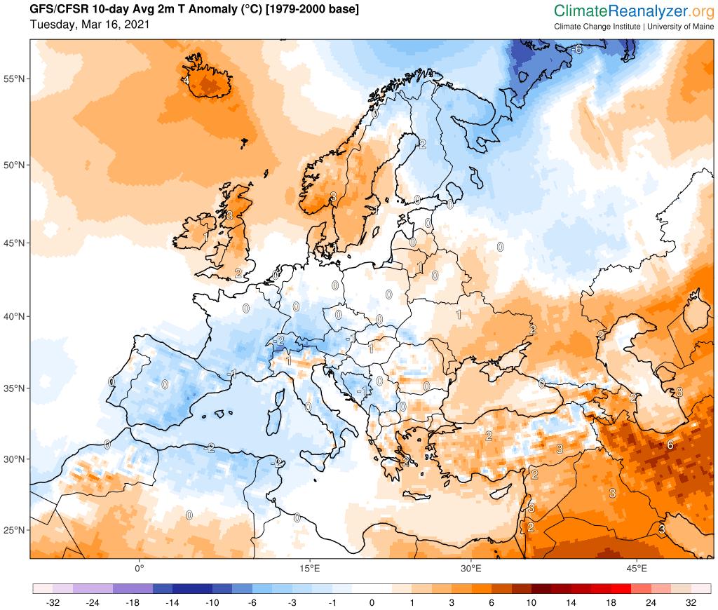 Pogoda. Anomalia w okolicach normy starego okresu referencyjnego 1979-2000