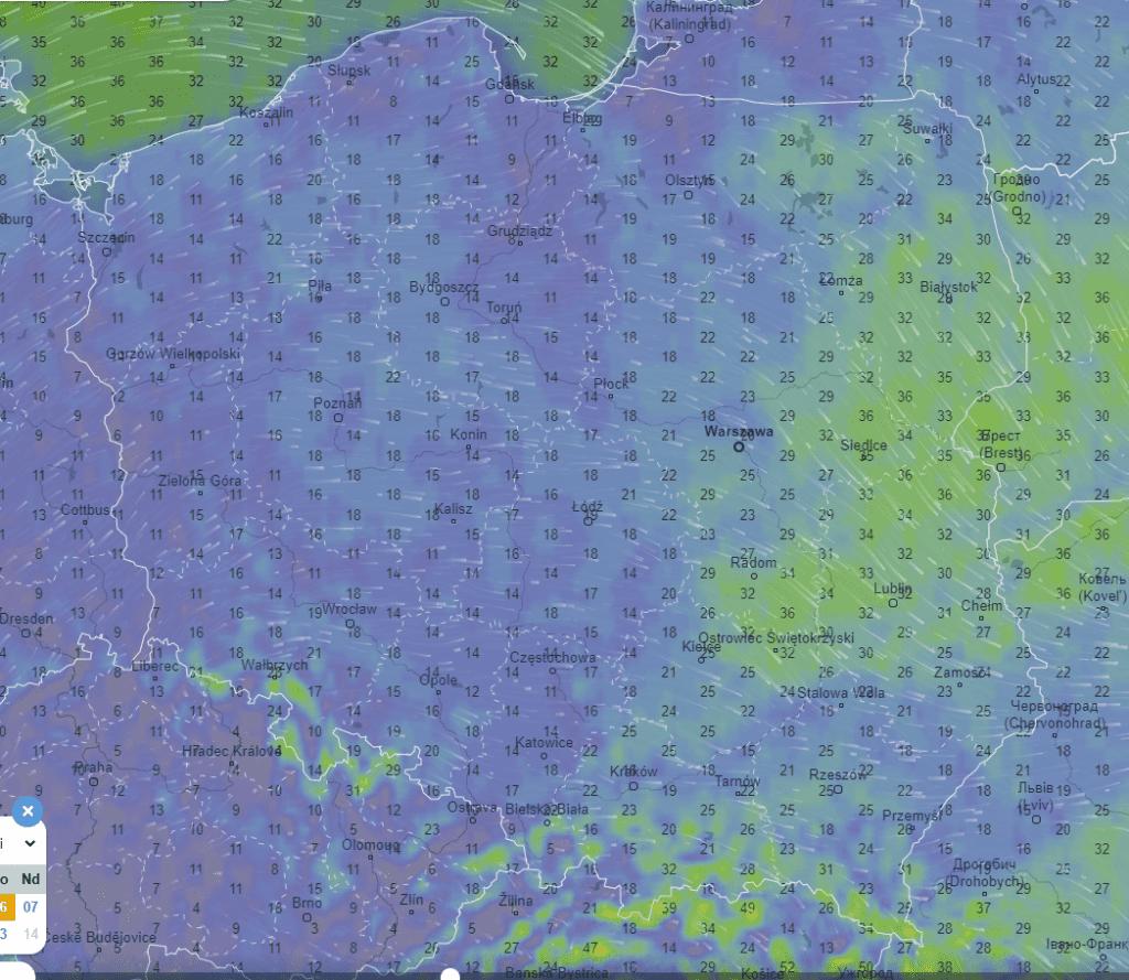 Pogoda. Wiatr w Polsce w piątek.