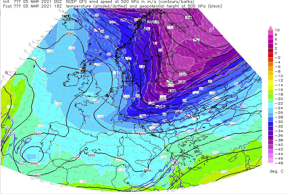 Pogoda w Polsce, 5 marca 2021