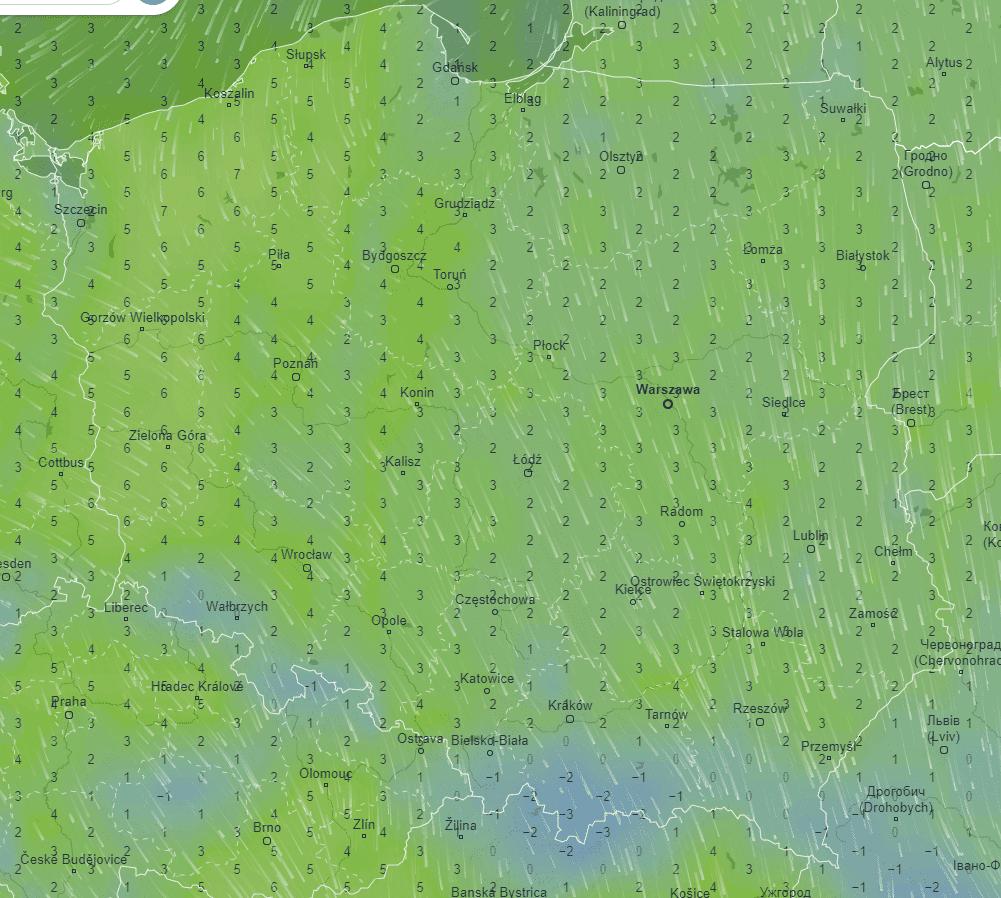 Pogoda. Temperatura środa w Polsce