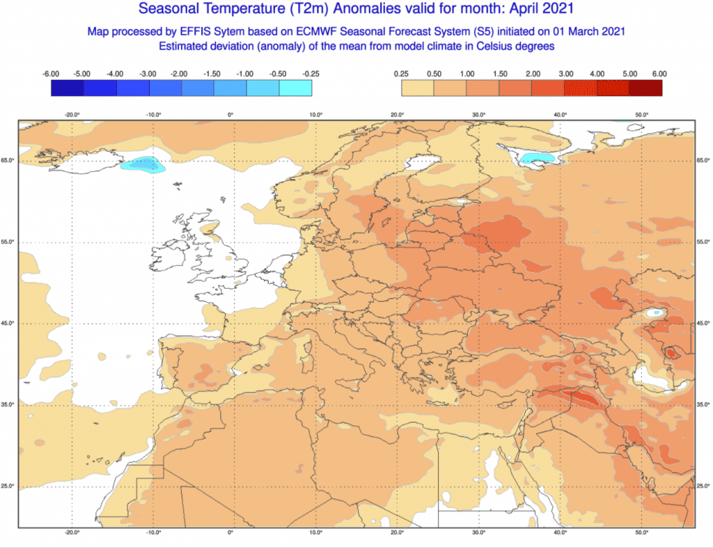 Pogoda. Temperatura w kwietniu 2021