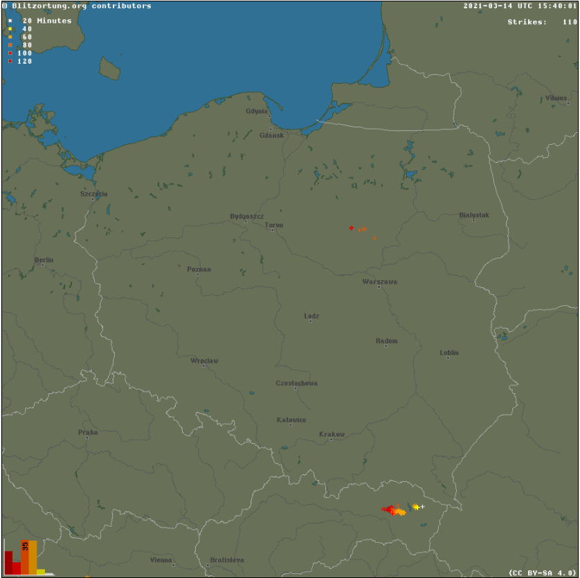 Pogoda. Burze w Polsce