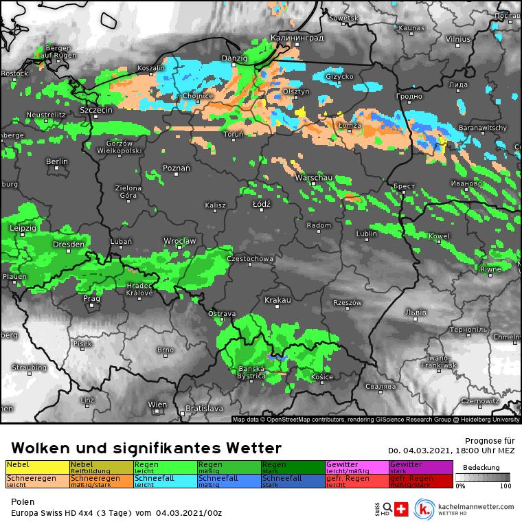 Pogoda na 4 marca. Dużo opadów w Polsce. Na północy możliwy śnieg
