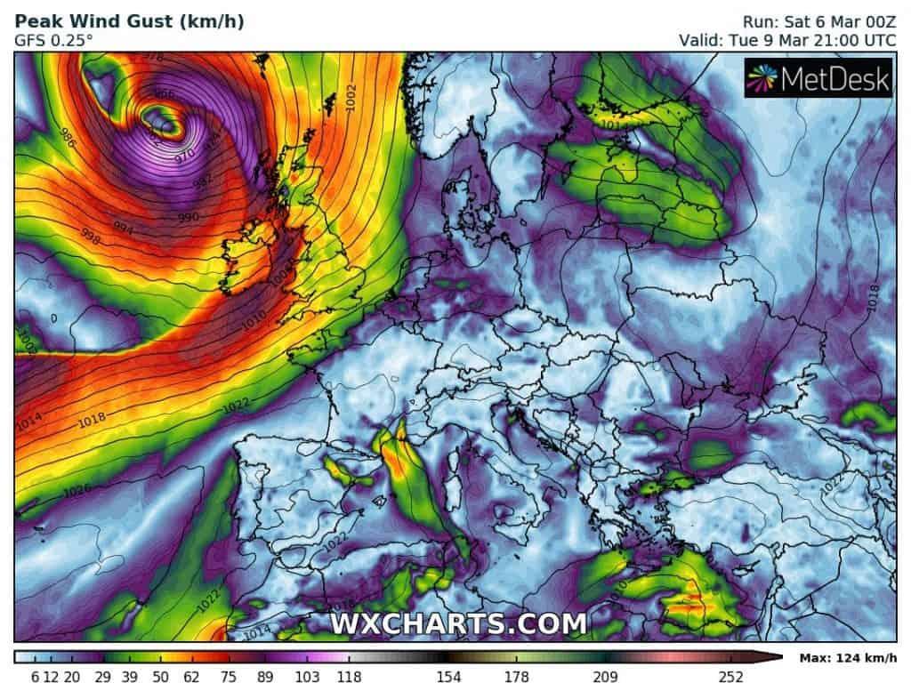 Powrót cyrkulacji strefowej. Silne wichur pojawią się na zachodzie Europy już za kilka dni