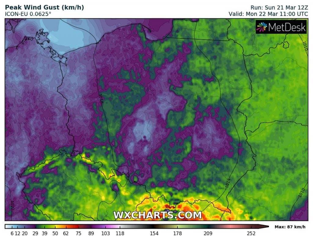 Pogoda 22 marca dla Polski