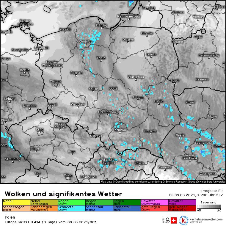 Opady 9 marca w Polsce