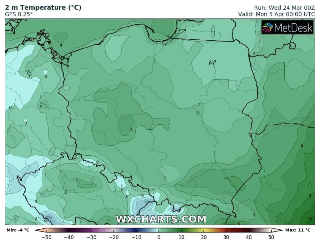 Przymrozki w Polsce Wielkanoc
