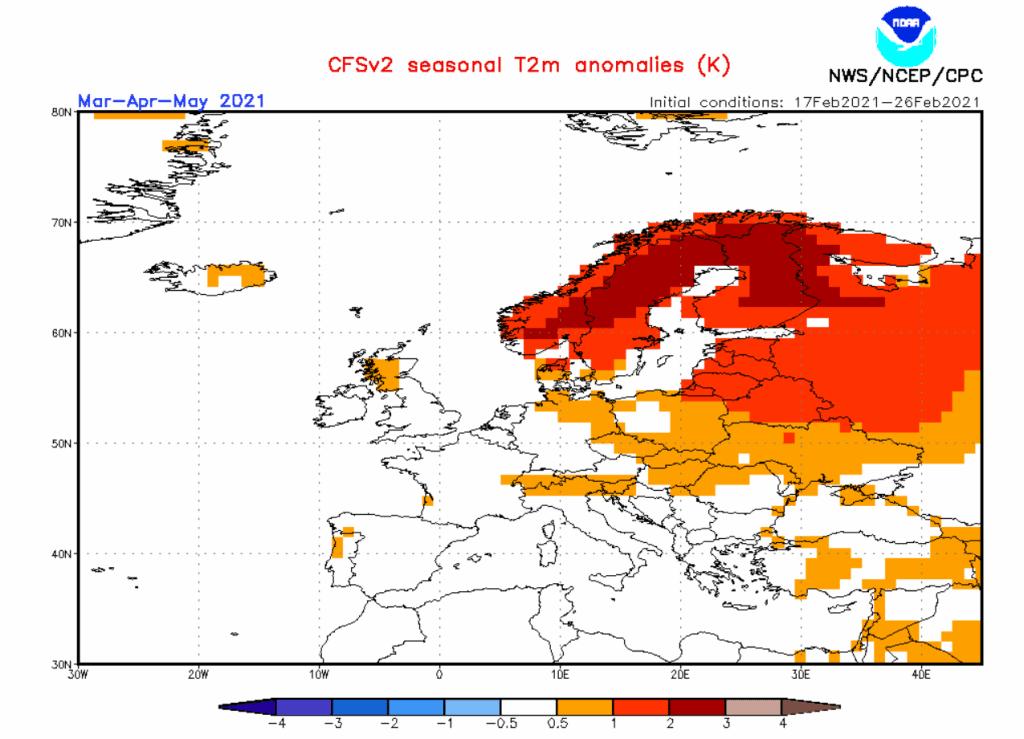 Pogoda długoterminowa.. Anomalia CFS .