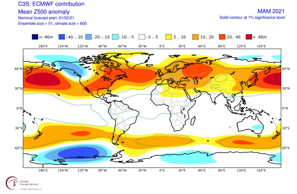 Pogoda długoterminowa. ECMWF