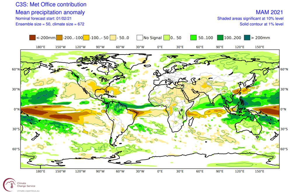 Pogoda długoterminowa. Opady na całym globie w okresie 3 miesiecy.