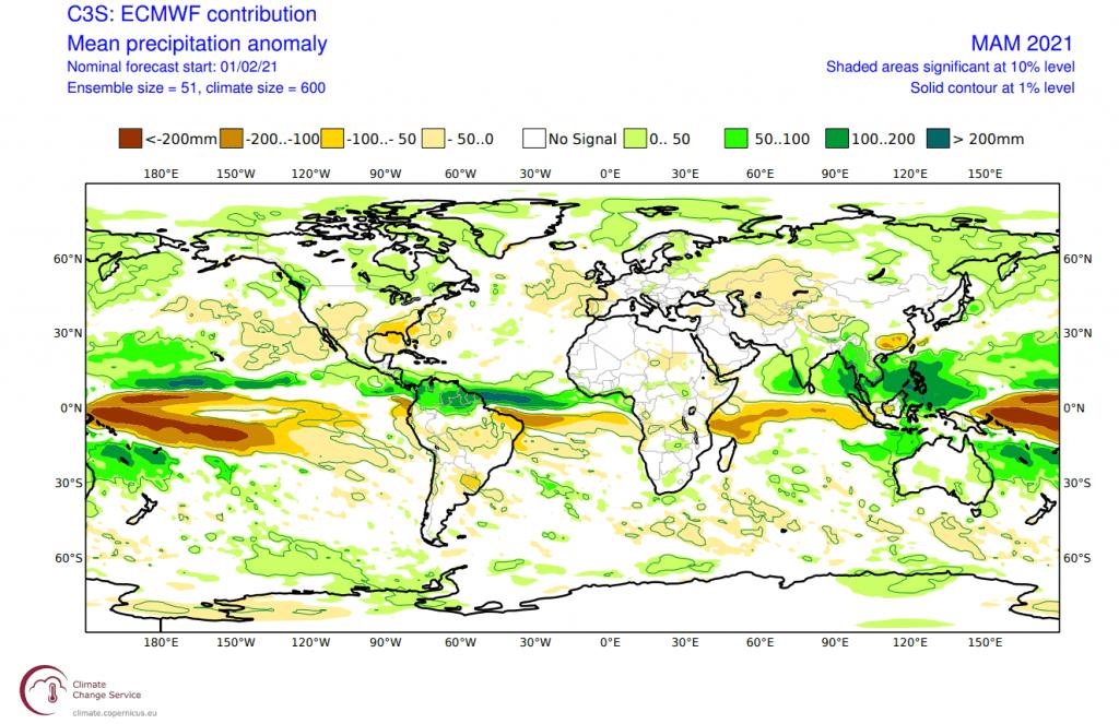Pogoda długoterminowa. Opady według ECMWF.