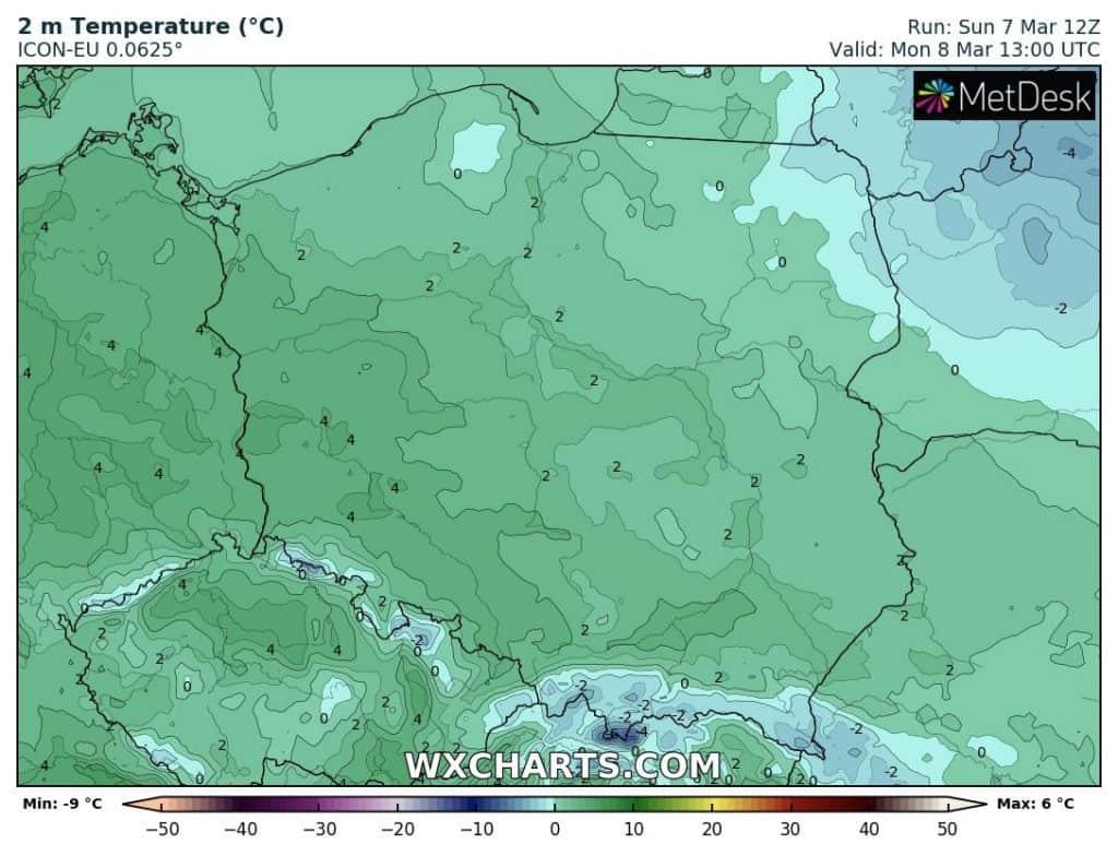 Pogoda w Dzień Kobiet. Temperatura w Polsce w poniedziałek 8 marca
