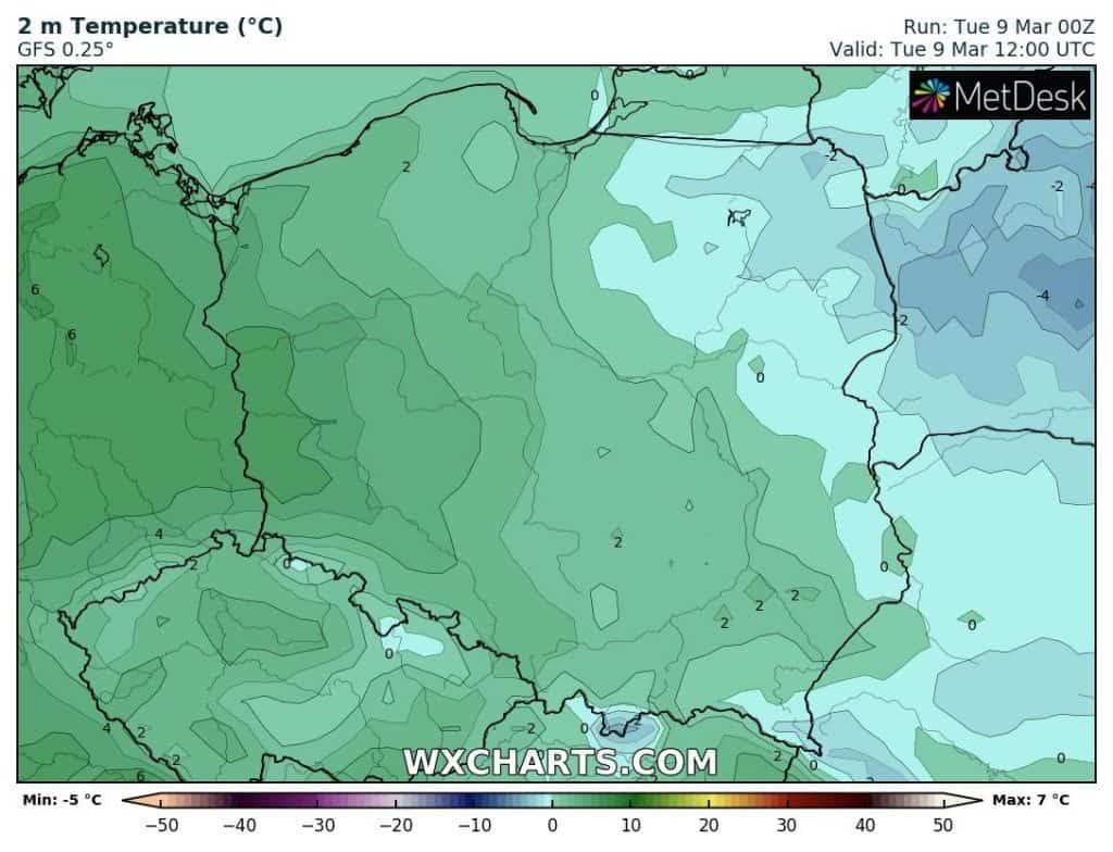 Temperatura 9 marca w Polsce