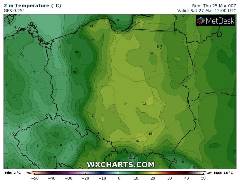 Ciepła sobota 27 marca w Polsce