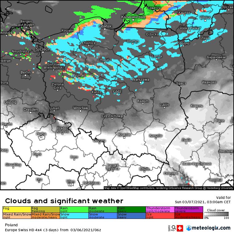 Pogoda. Noc w Polsce z soboty na niedzielę