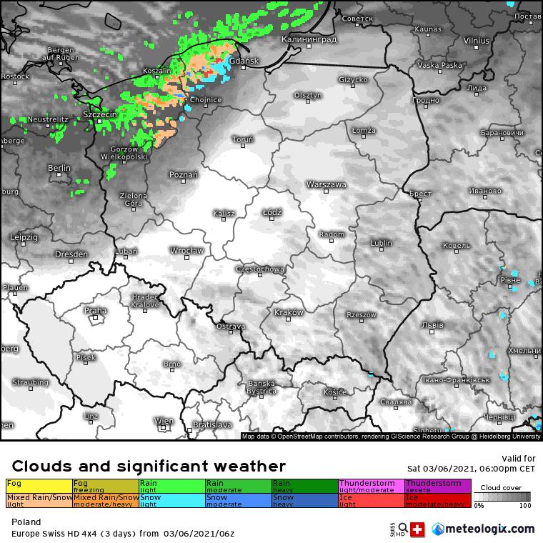 Pogoda. Noc w Polsce