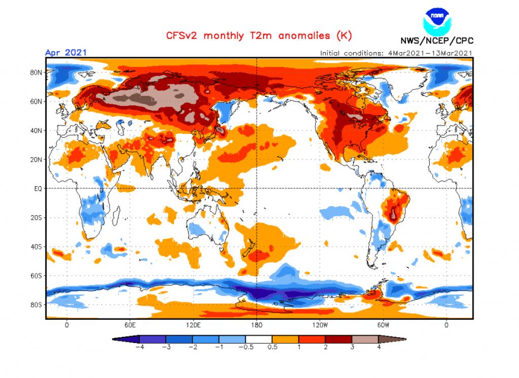 Anomalia temperatury na Świecie