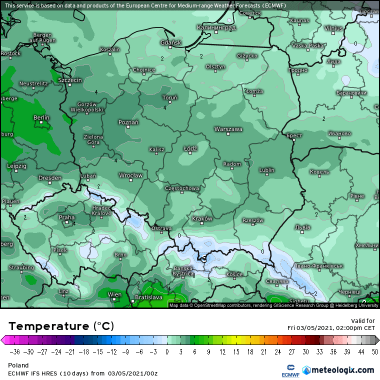 ECMWF i pogoda w Polsce