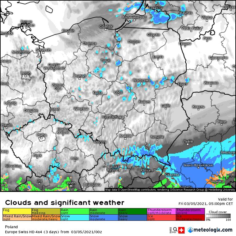 Opady konwekcyjne w Polsce