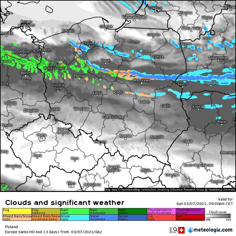 Opady zimowe w Polsce