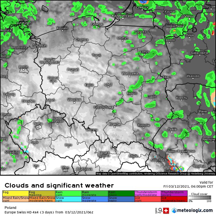Pogoda. Opady w Polsce