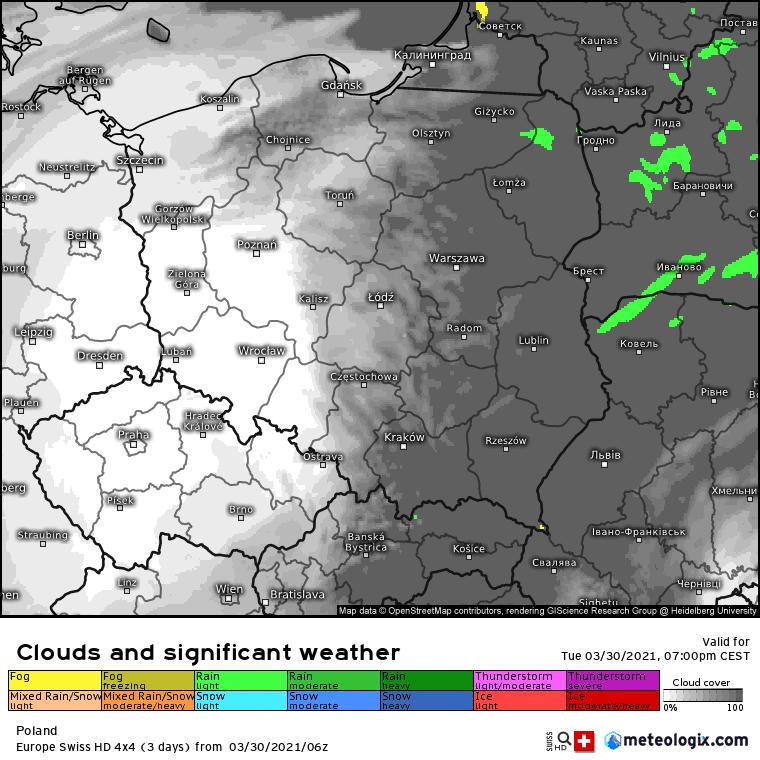 Pogoda. Chmury w Polsce