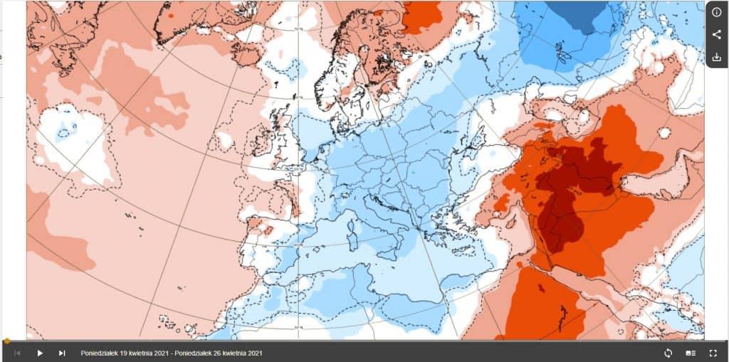 ECMWF rozczarowuje, okresy chłodu.