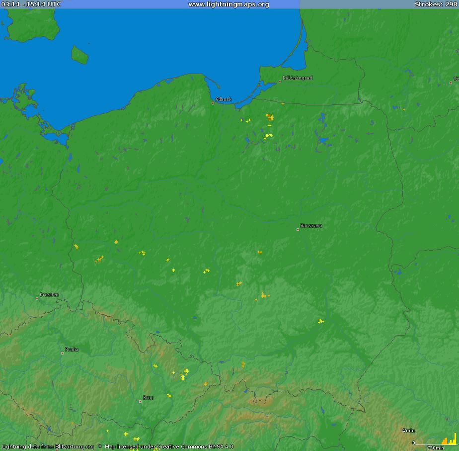 Pogoda. Dane burzowe, 7 kwietnia 2021