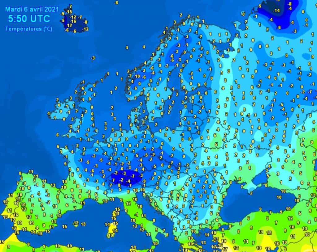Atak zimy w Europie w kwietniu
