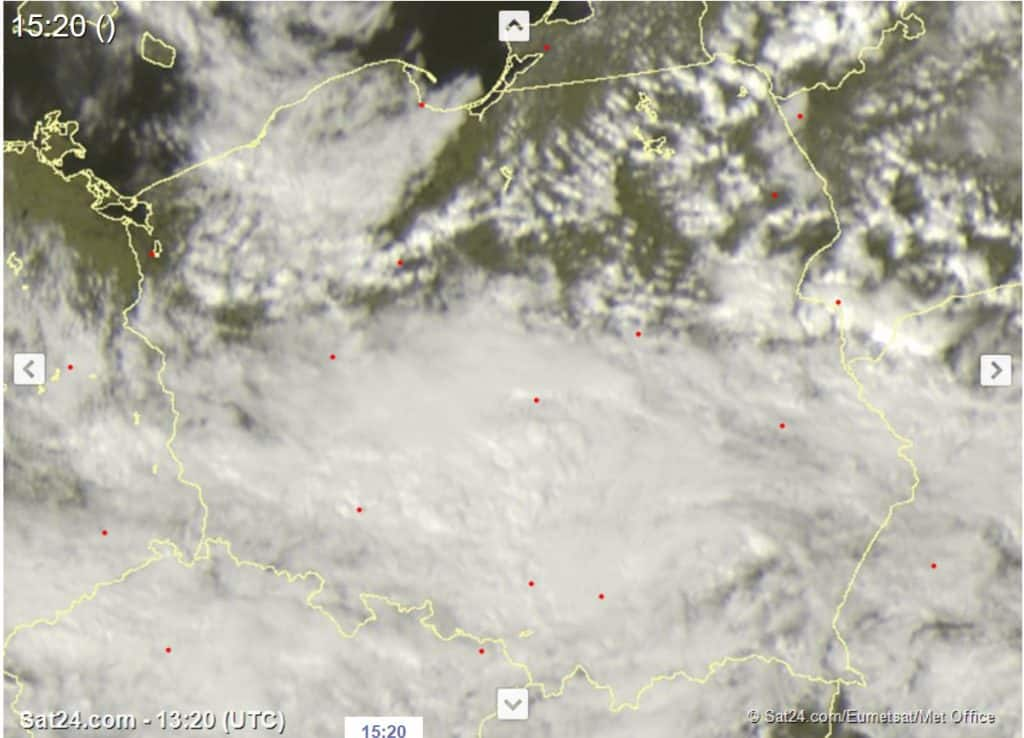 Burze nad Polską 17 kwietnia