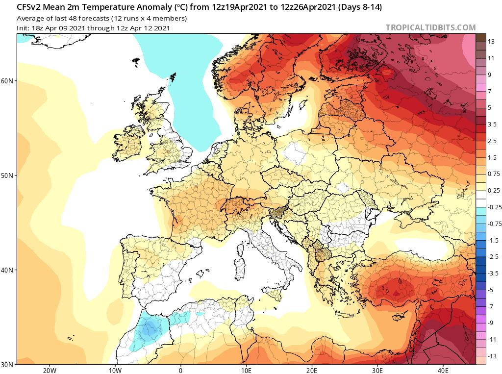 Pogoda. CFS na okres od 19.04.2021 do 26.04.2021.