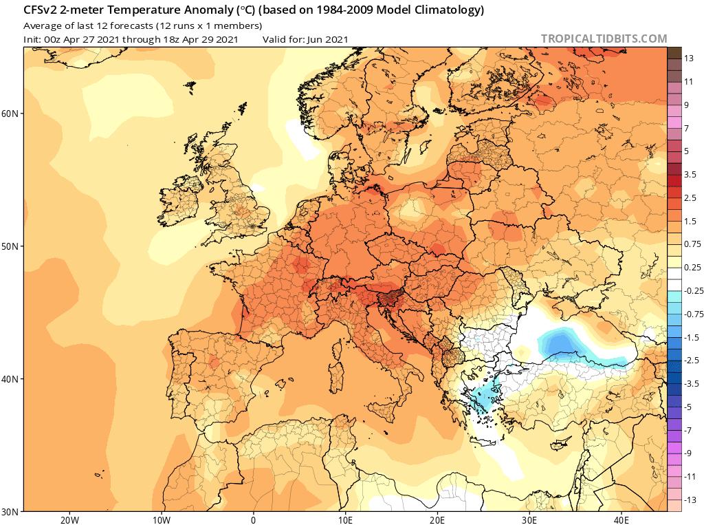 Pogoda. CFS w czerwcu 2021.