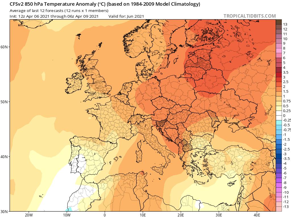 Temperatura czerwiec 2021