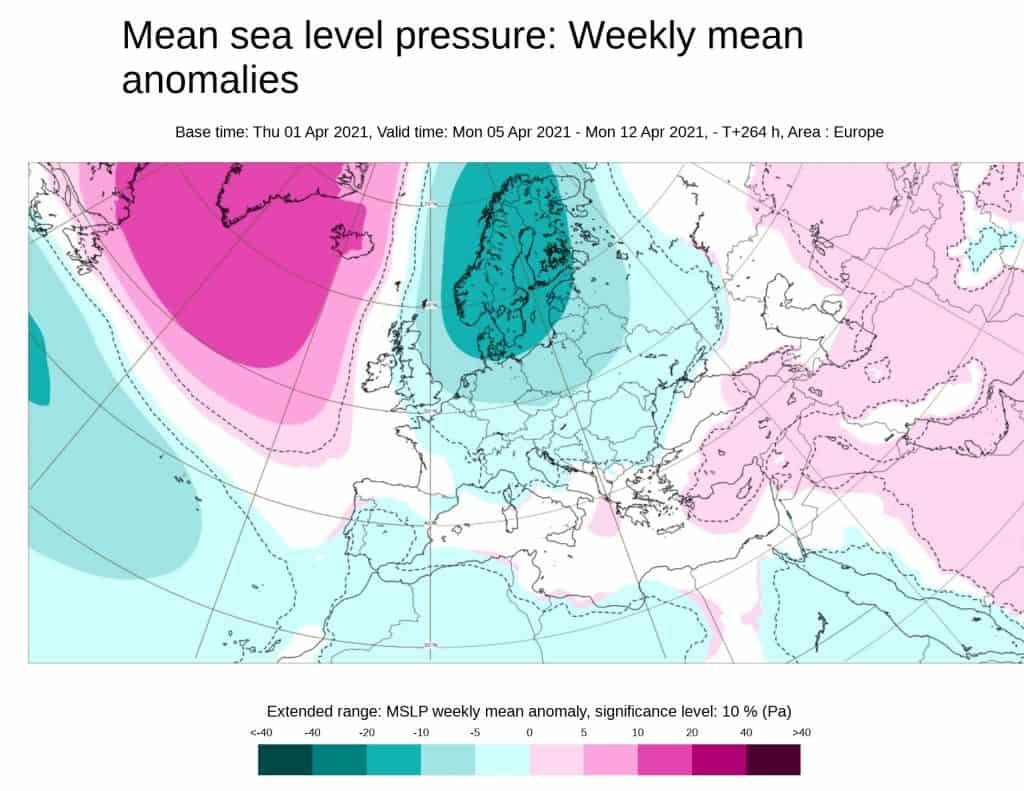 Pogoda. Ciśnienie atmosferyczne kwiecień 2021