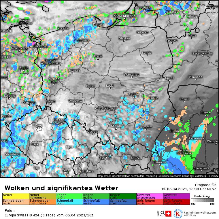 Śnieżyce w Polsce. Rozwój chmur w Polsce. Dużo przelotnych opadów śniegu