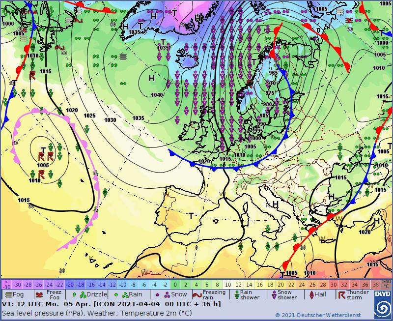 Pogoda 5 kwietnia. Front chłodny nad Polską